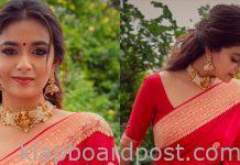 Keerthy Suresh Looking Beautiful In Red